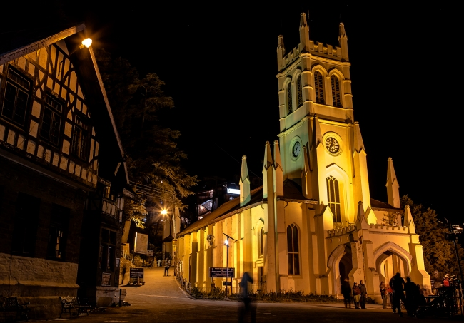 Christ Church in Shimla, is the second oldest church in North India, after St John's Church in Meerut.