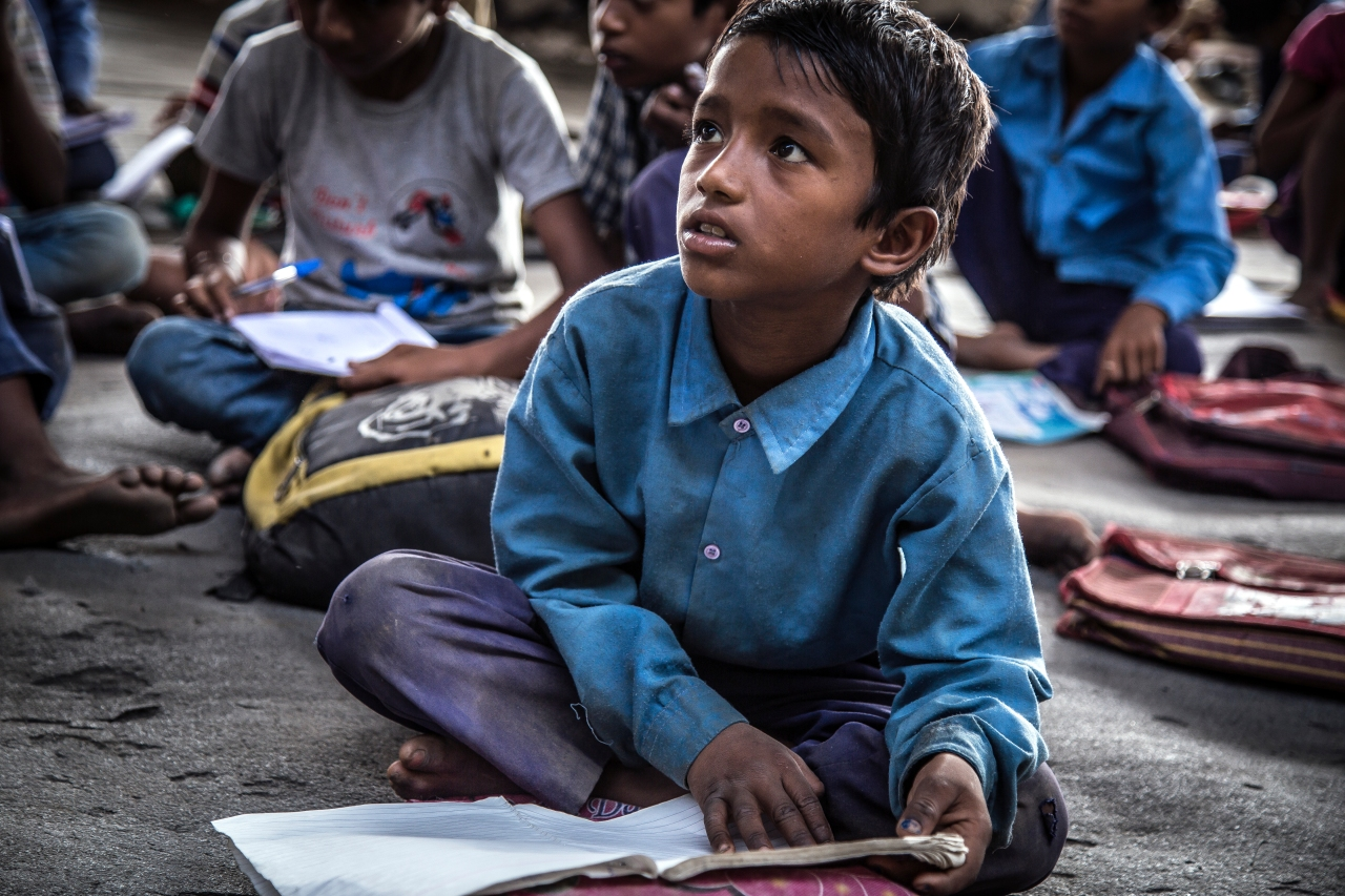 Many students in the school are registered in the nearby government-run schools, but they attend Free School's classes because they are taught better here.